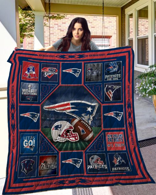 New England Patriots Quilt Blanket LC8