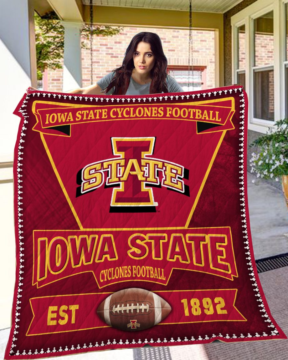 Iowa State Cyclones Quilt Blanket LC4