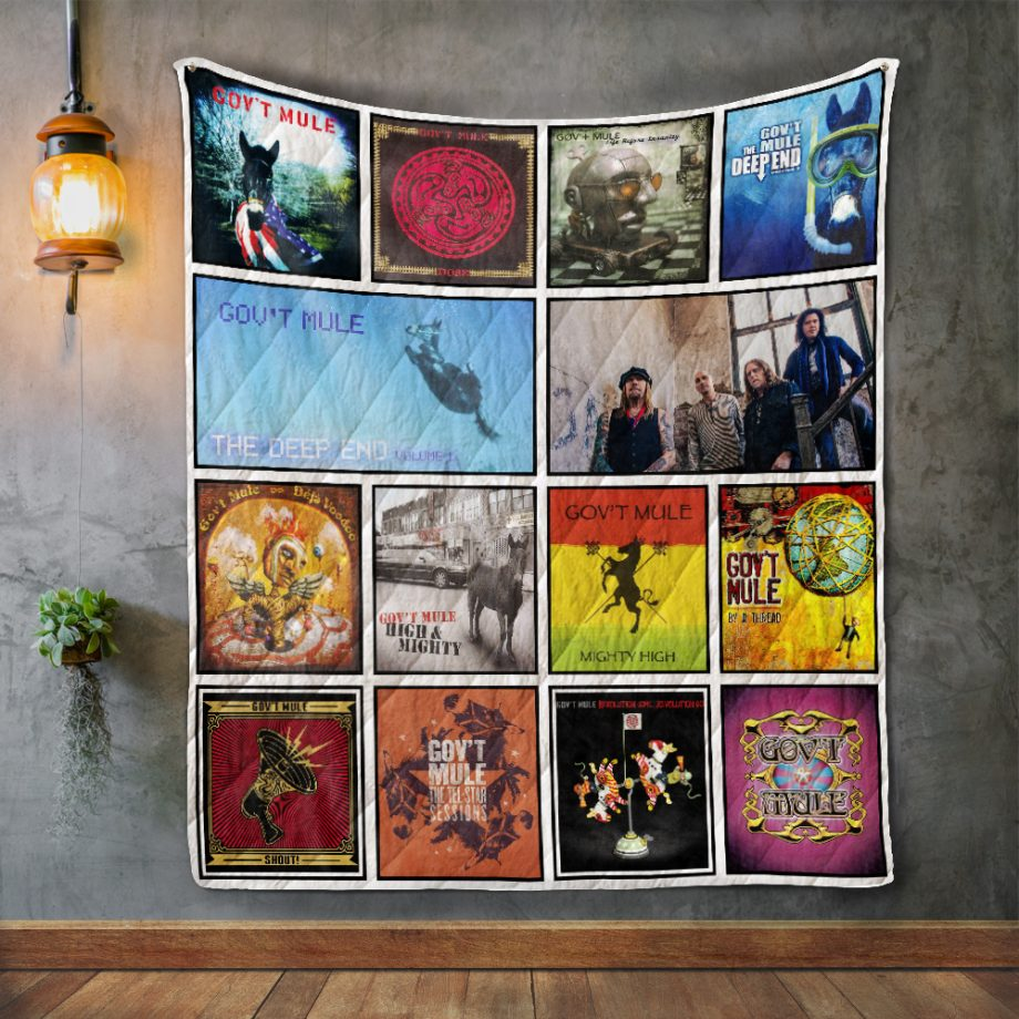Gov#8217t Mule Album Covers Quilt Blanket