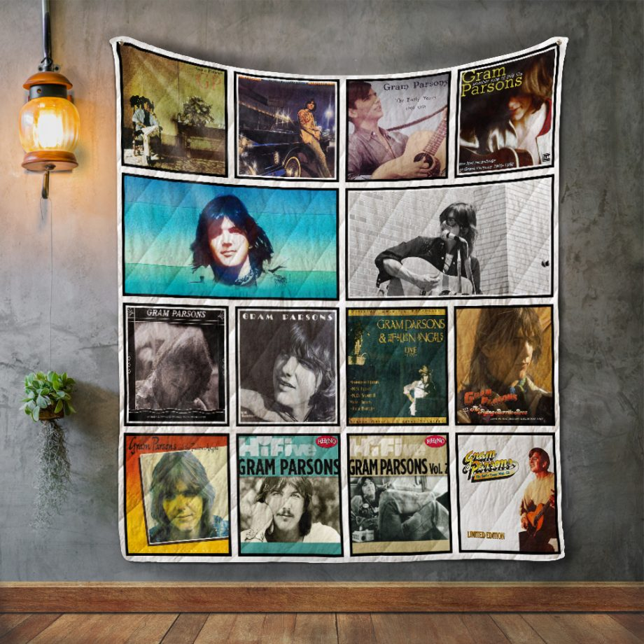 Gram Parsons Album Covers Quilt Blanket