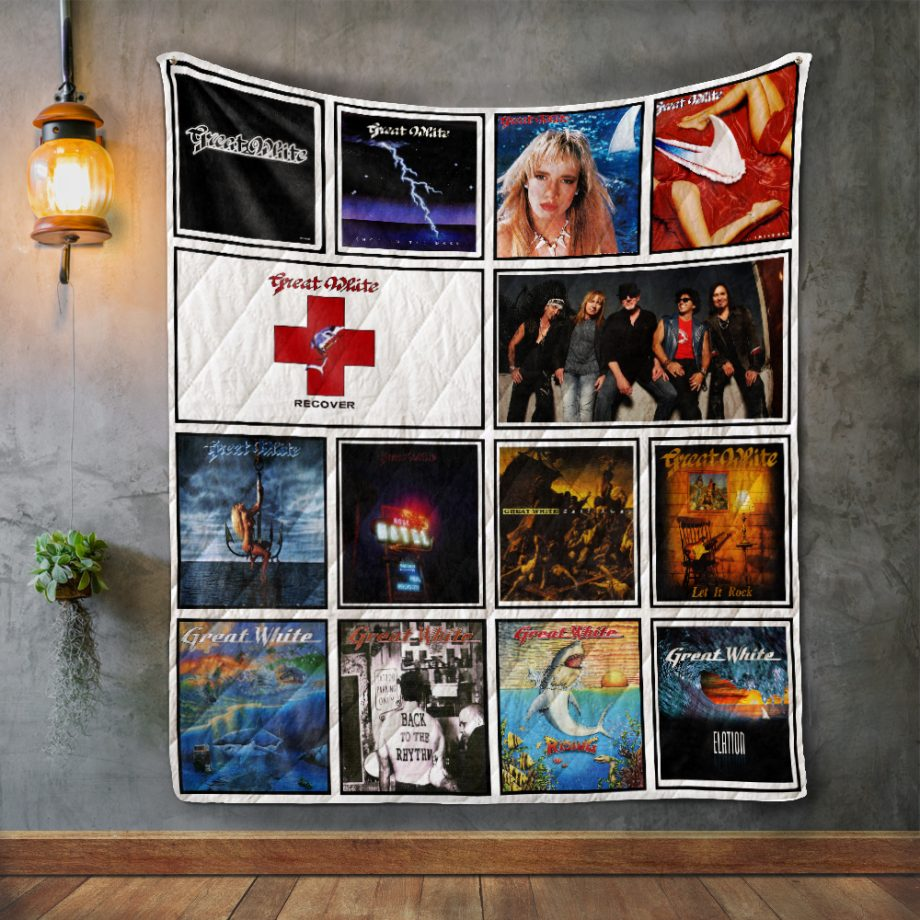 Great White Album Covers Quilt Blanket