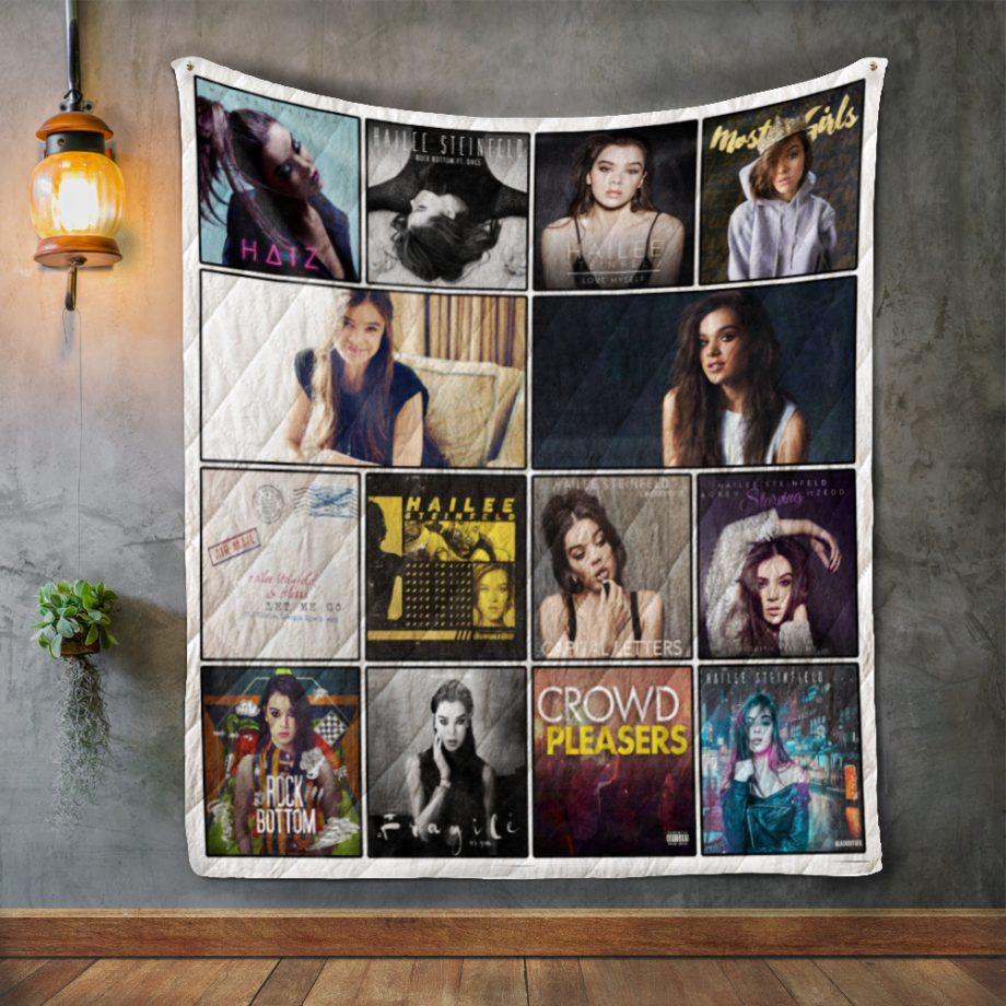 Hailee Steinfeld Album Covers Quilt Blanket
