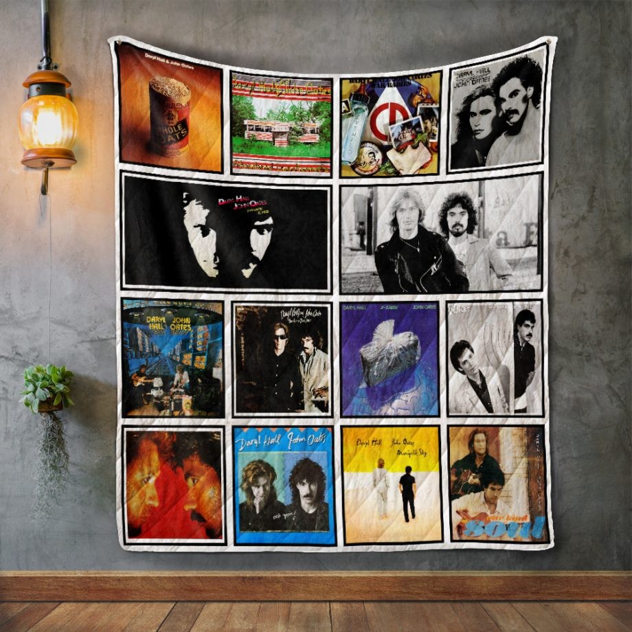 Hall amp Oates Album Covers Quilt Blanket