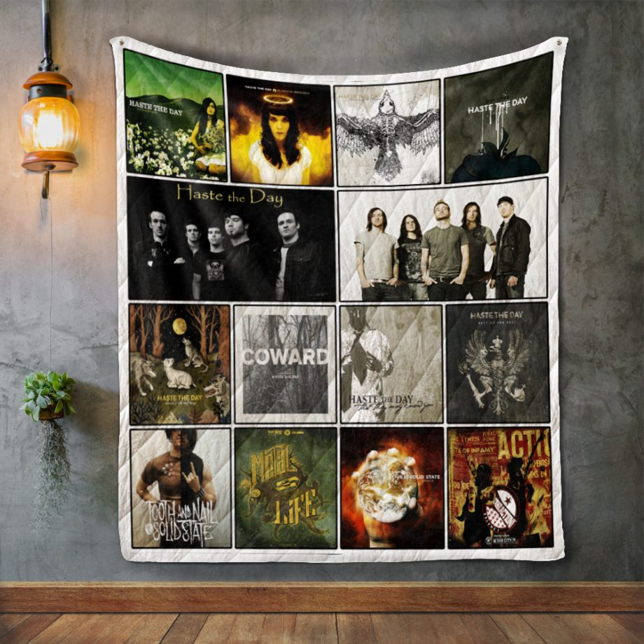 Haste The Day Album Covers Quilt Blanket
