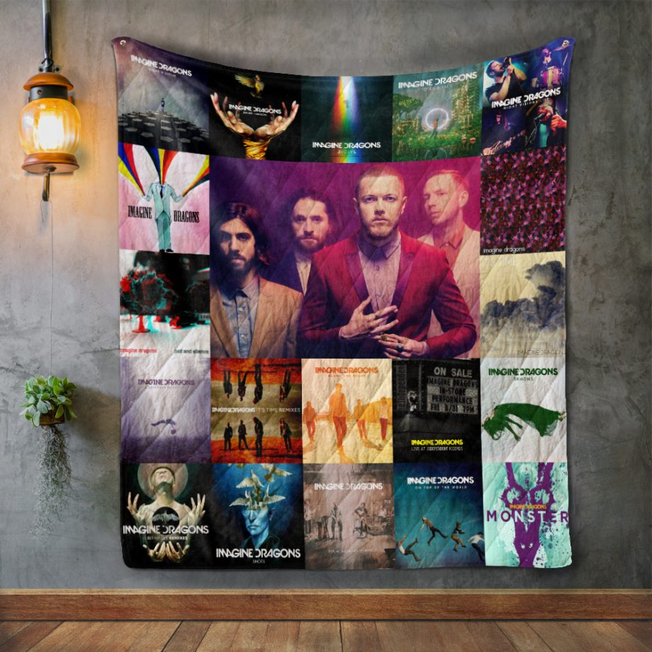 Imagine Dragons Style Two Album Covers Quilt Blanket