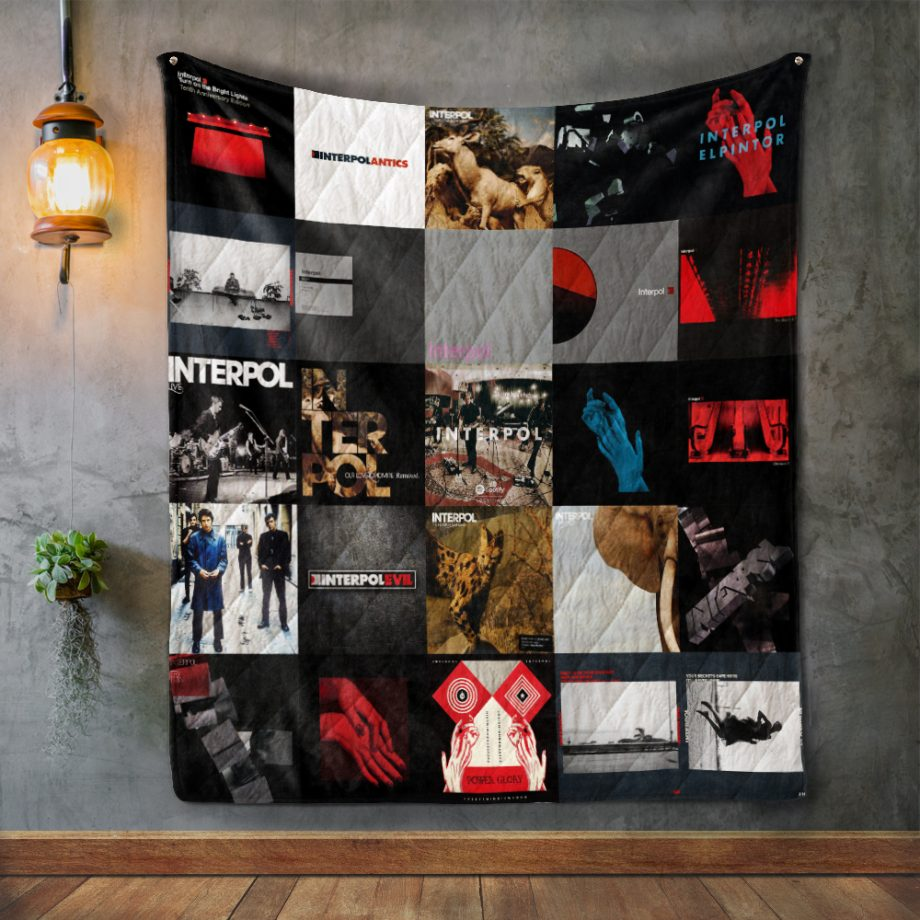 Interpol Album Covers Quilt Blanket