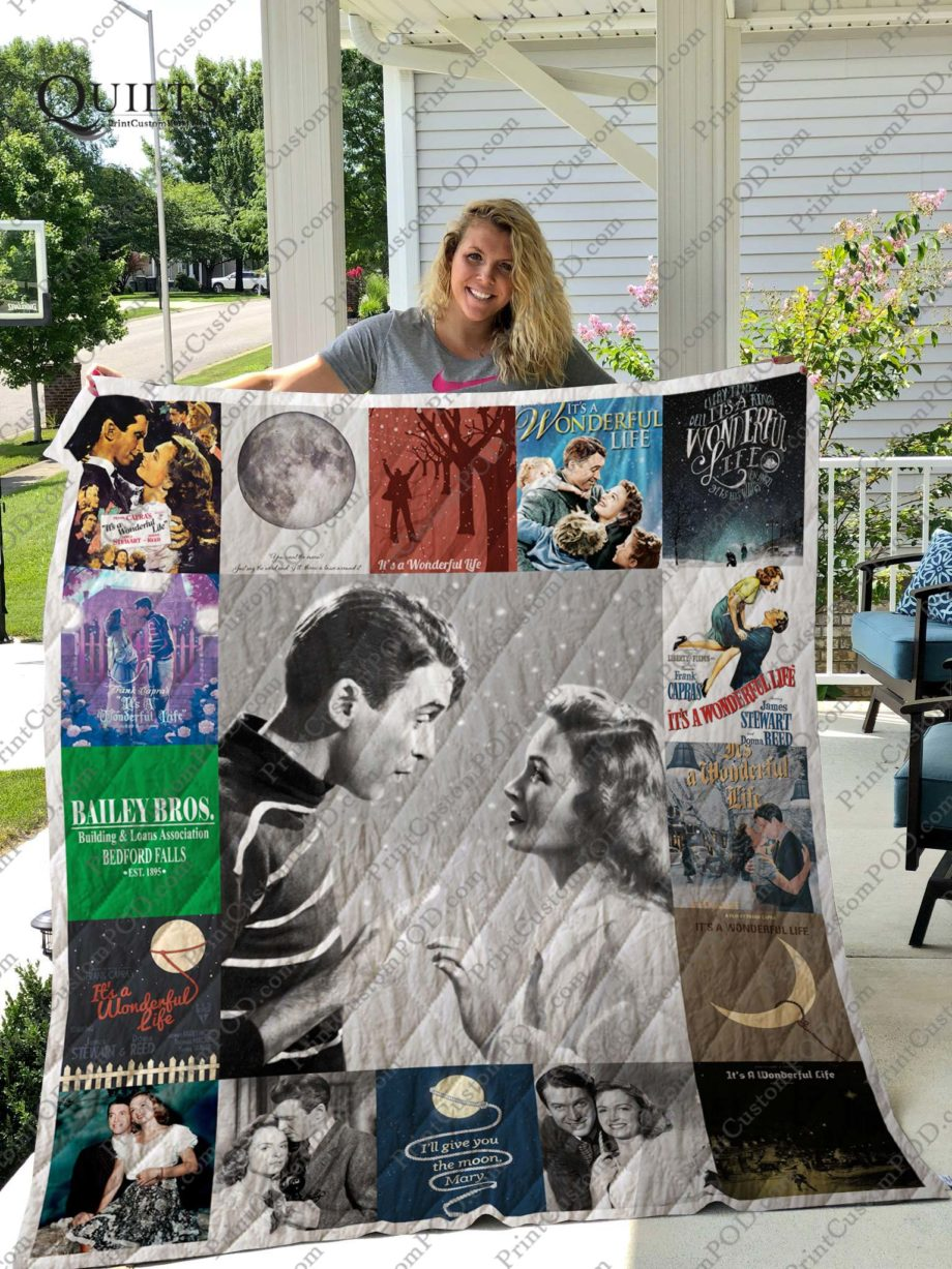 It's a Wonderful Life Quilt Blanket for Fans New KP-209
