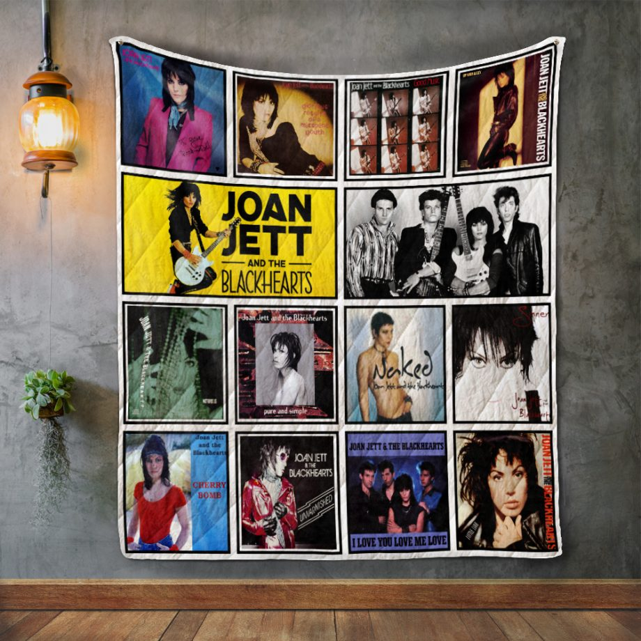 Joan Jett And The Blackhearts Album Covers Quilt Blanket