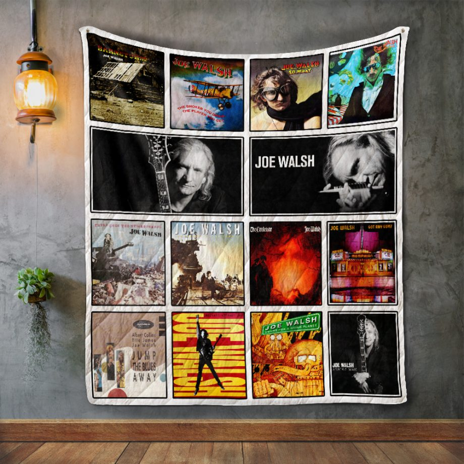 Joe Walsh Album Covers Quilt Blanket