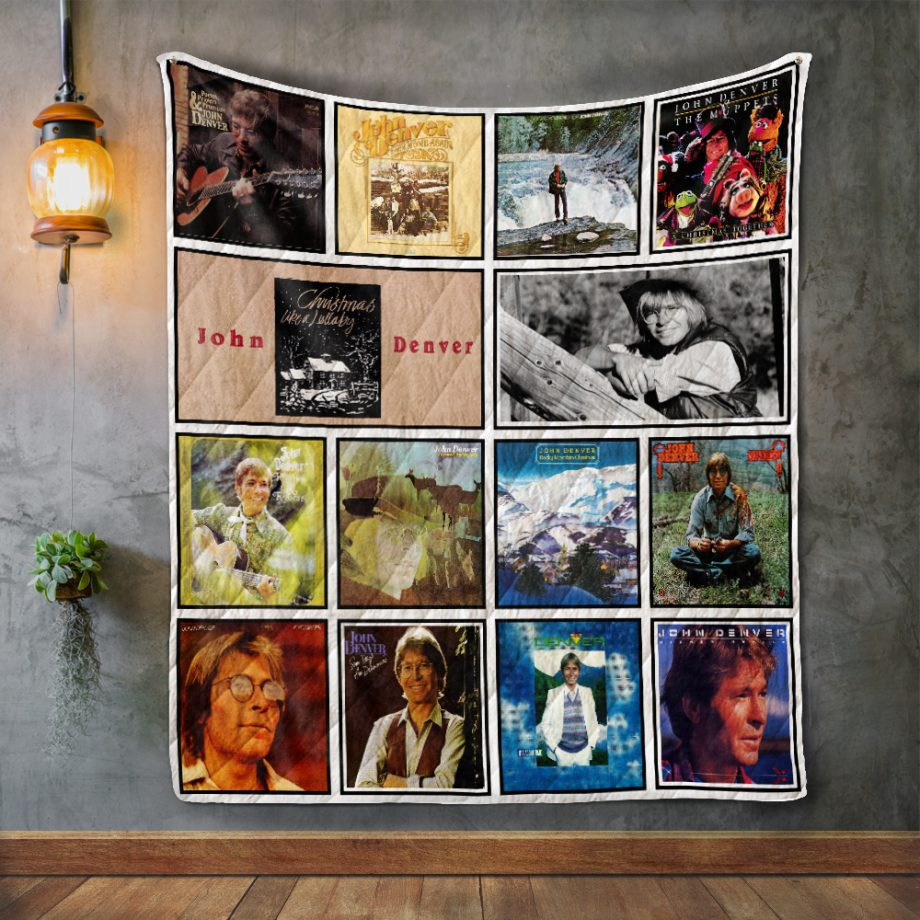 John Denver Album Covers Quilt Blanket