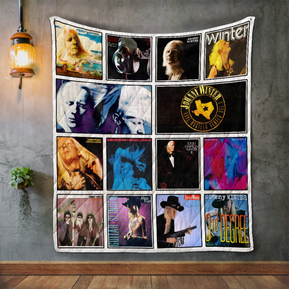 Johnny Winter Album Covers Quilt Blanket