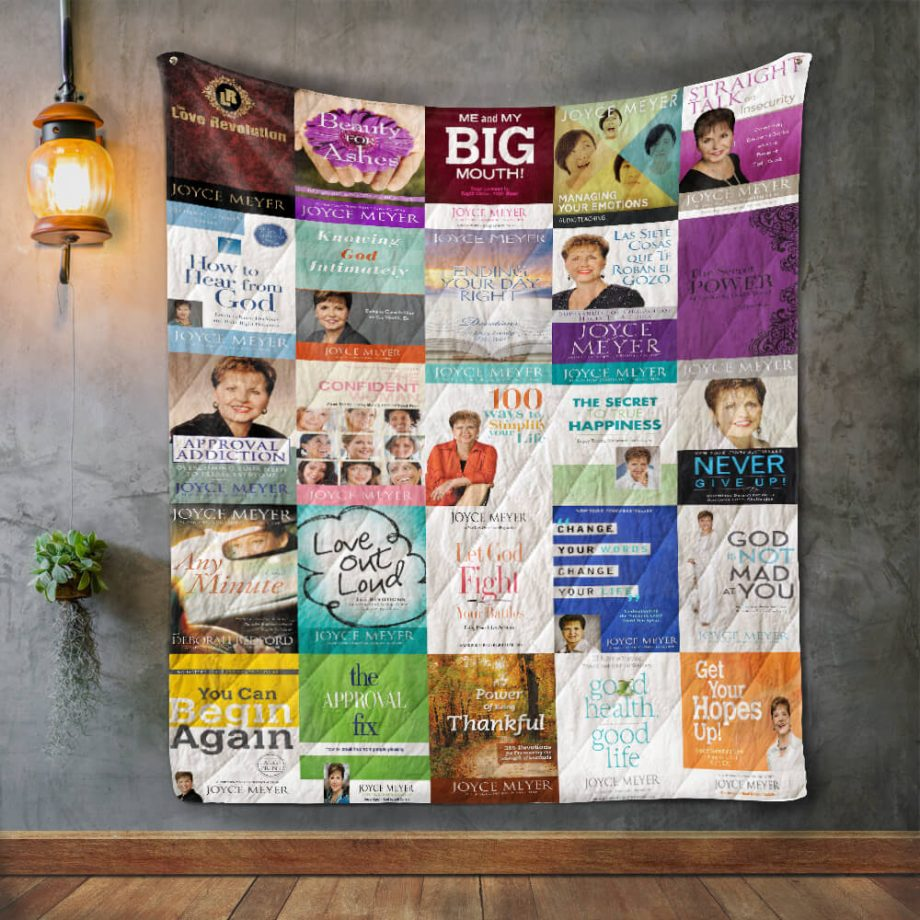 Joyce Meyer Album Covers Quilt Blanket