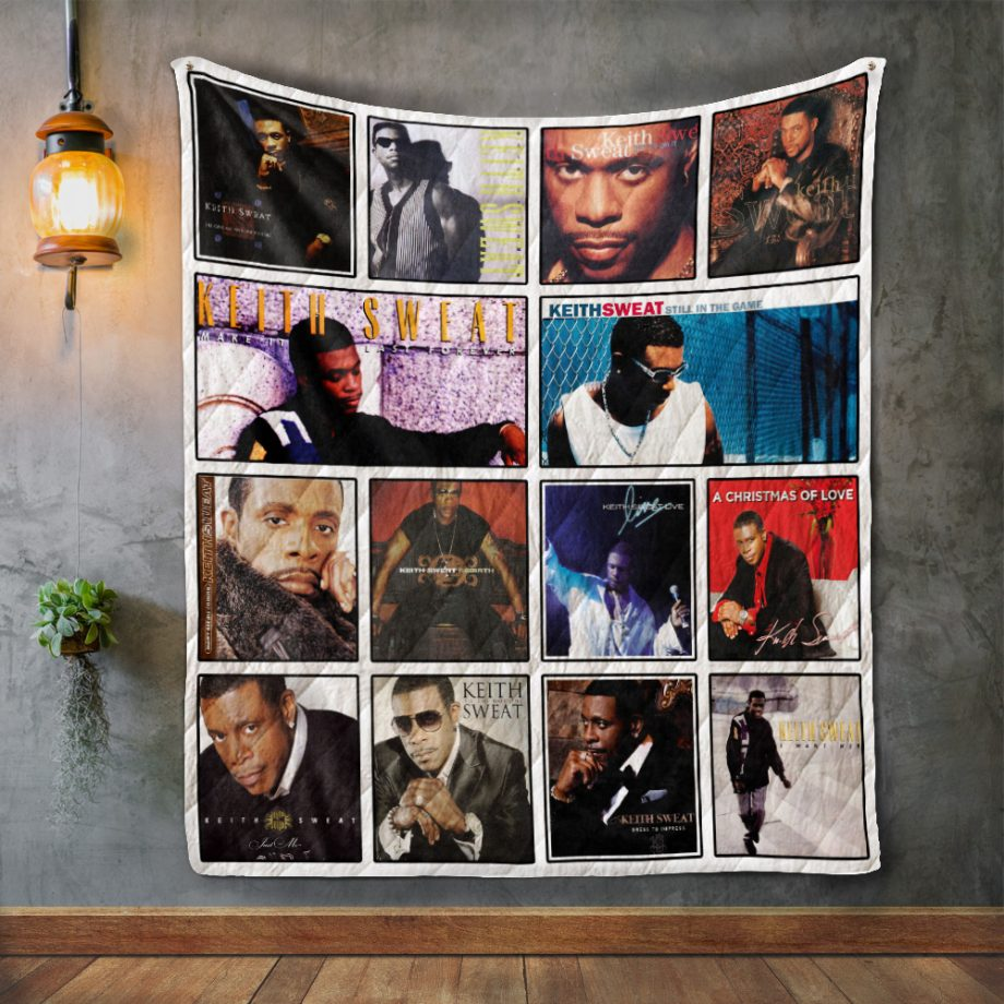 Keith Sweat Album Covers Quilt Blanket