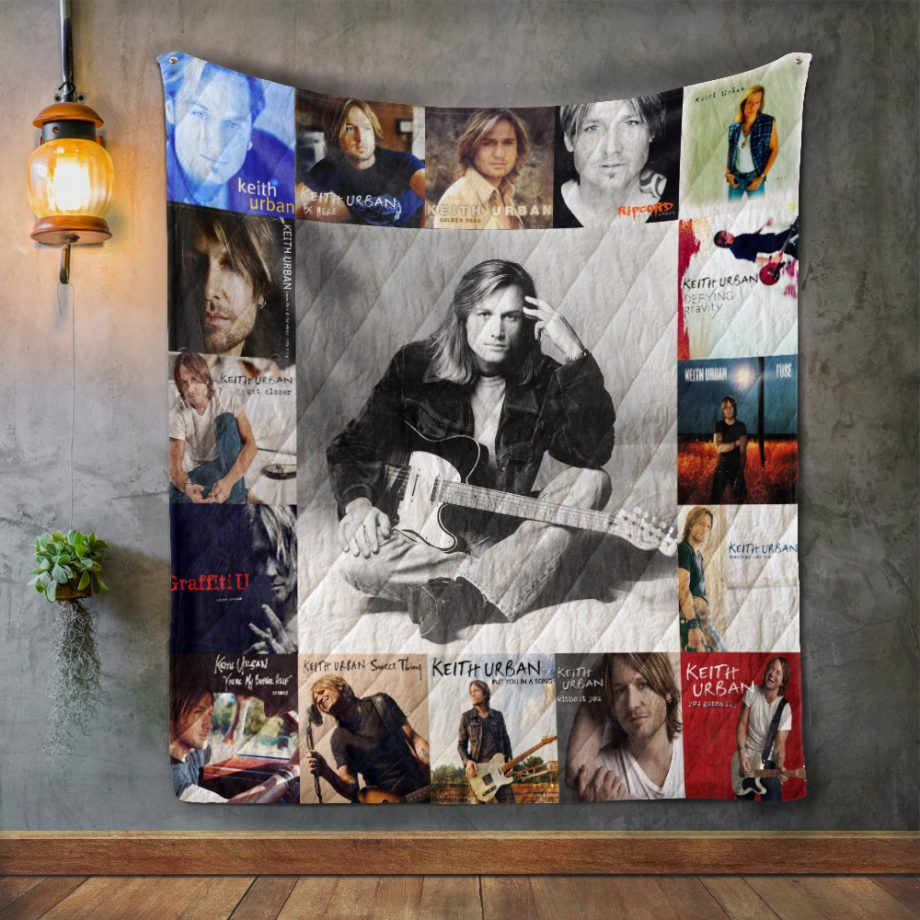 Keith Urban 2 Album Covers Quilt Blanket
