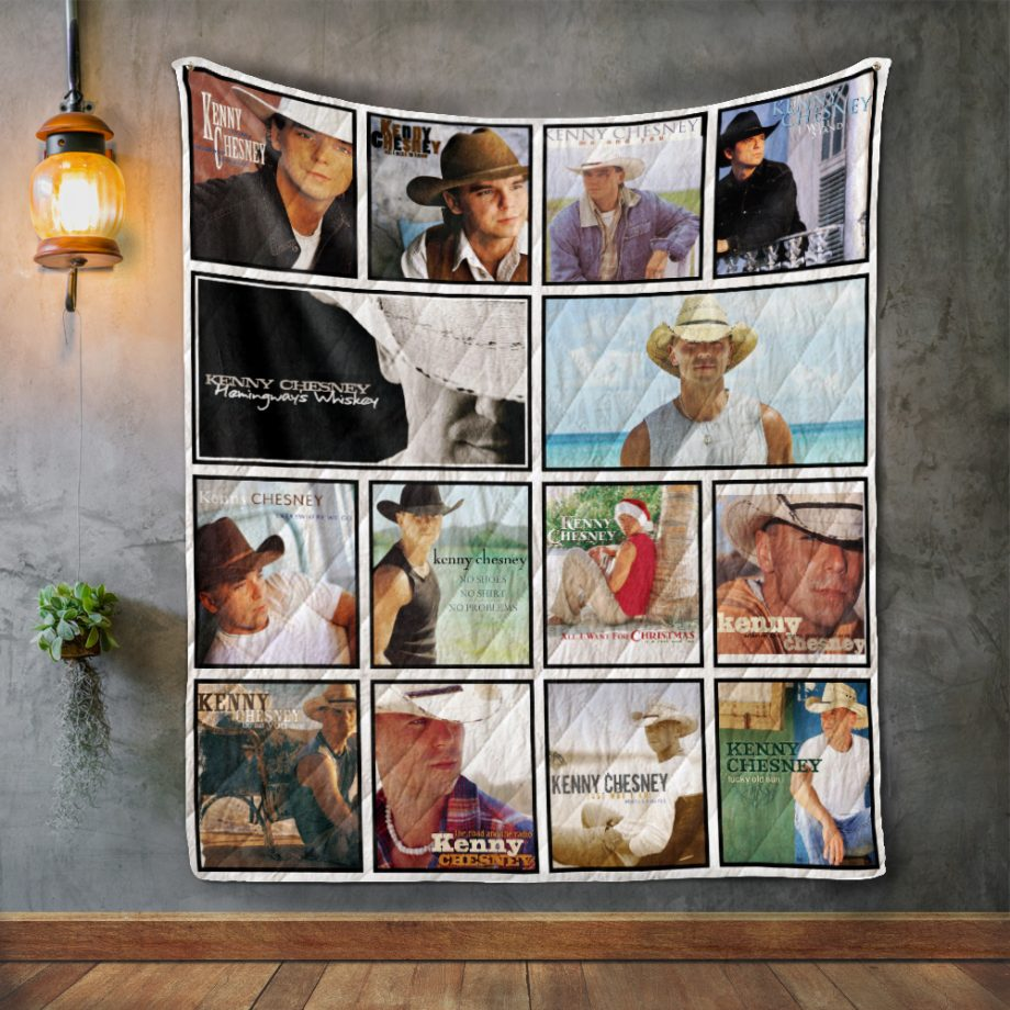 Kenny Chesney Album Covers Quilt Blanket