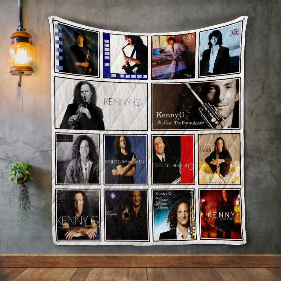Kenny G Album Covers Quilt Blanket
