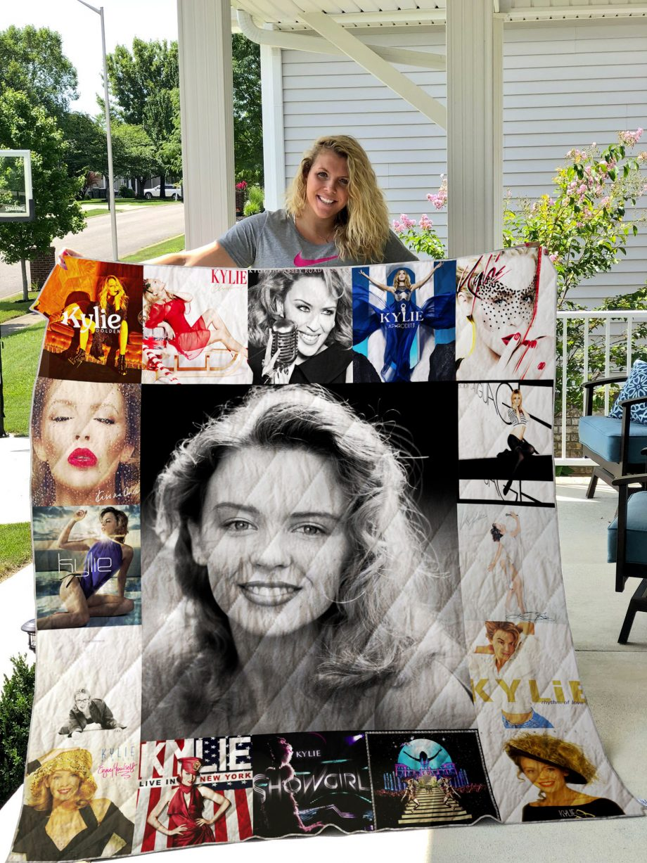 Kylie Minogue Style Two Quilt Blanket