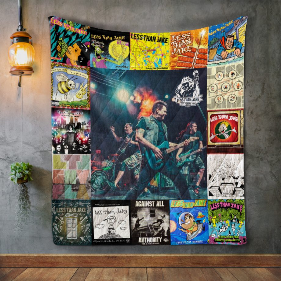 Less Than Jake Style Two Album Covers Quilt Blanket
