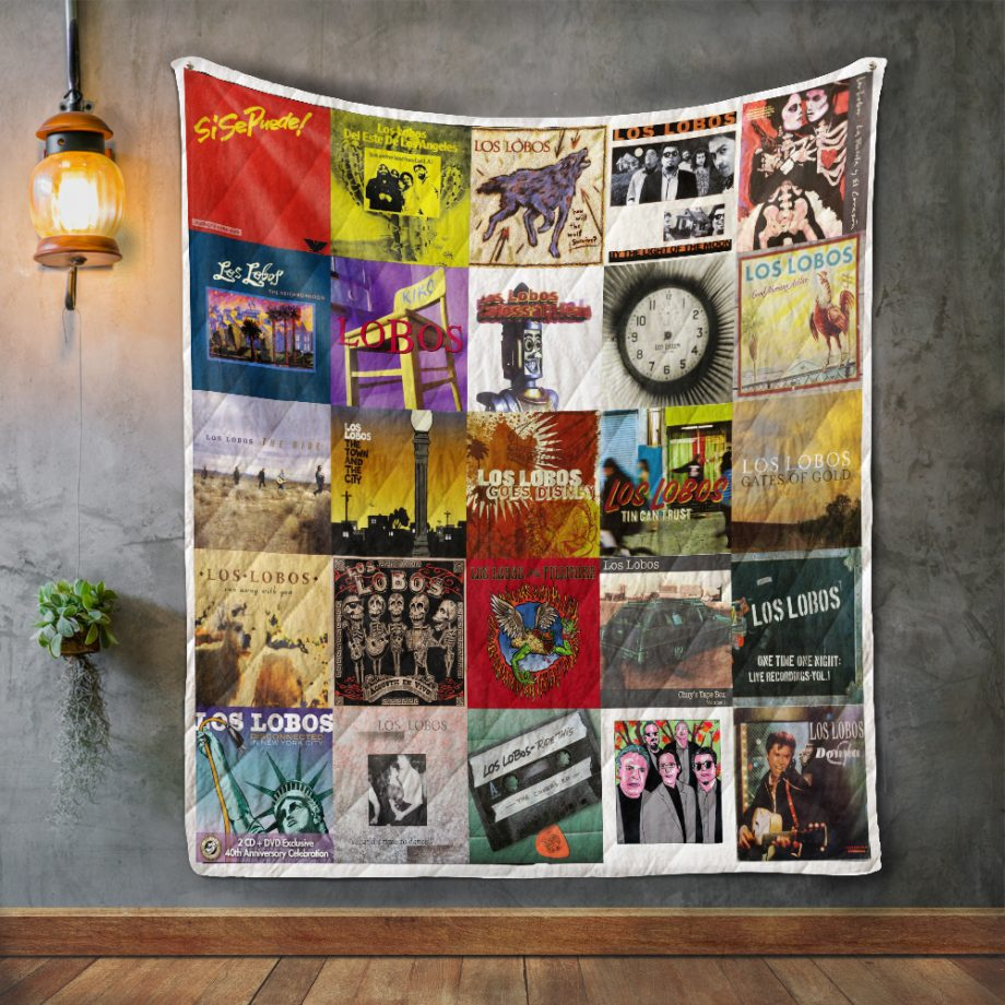 Los Lobos Album Covers Quilt Blanket