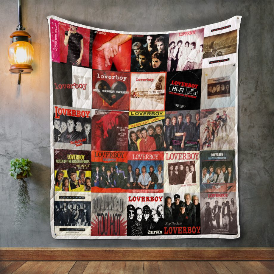 Loverboy Album Covers Quilt Blanket