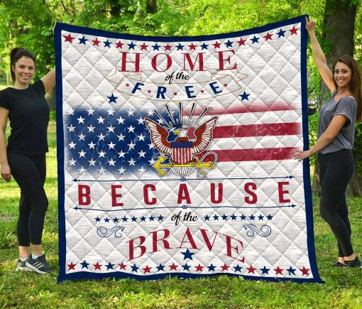 United States Navy Quilt Blanket LC3