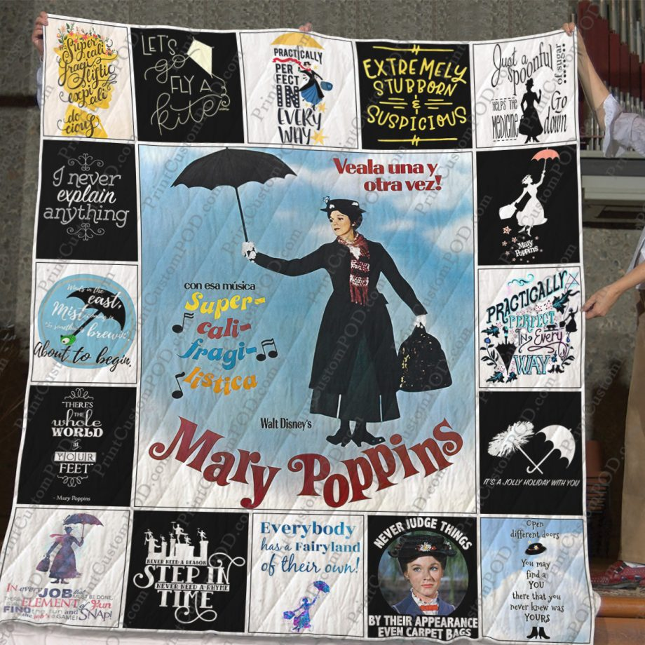 Mary Poppins Quilt Blanket