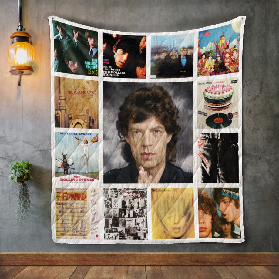 Mick Jagge Album Covers Quilt Blanket