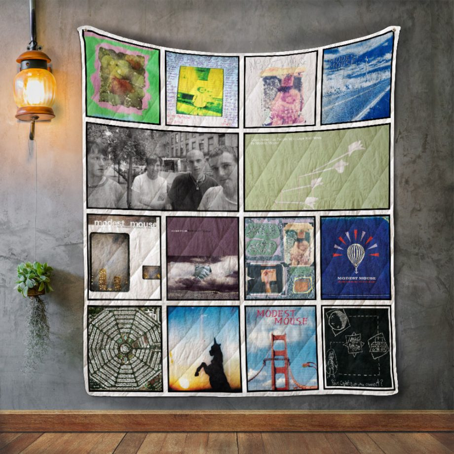 Modest Mouse Album Covers Quilt Blanket
