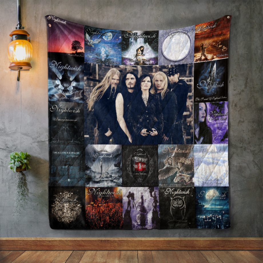 Nightwish Style Two Album Covers Quilt Blanket