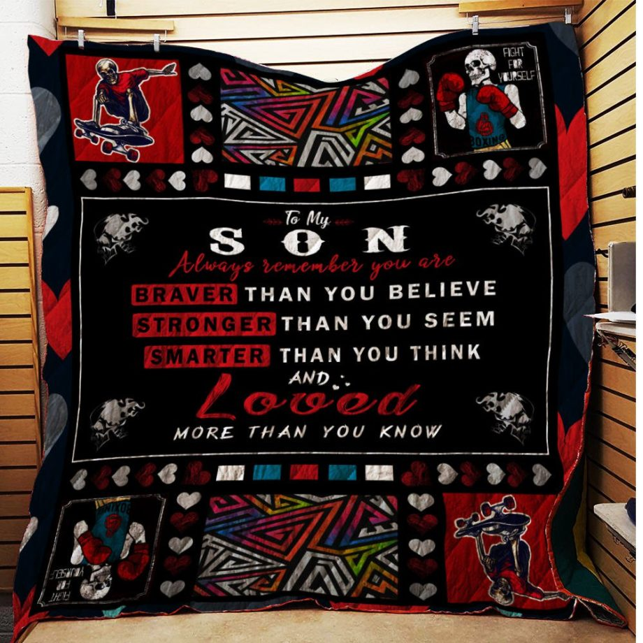 To My SonYou Are Braver Than You Believe Quilt KP-13