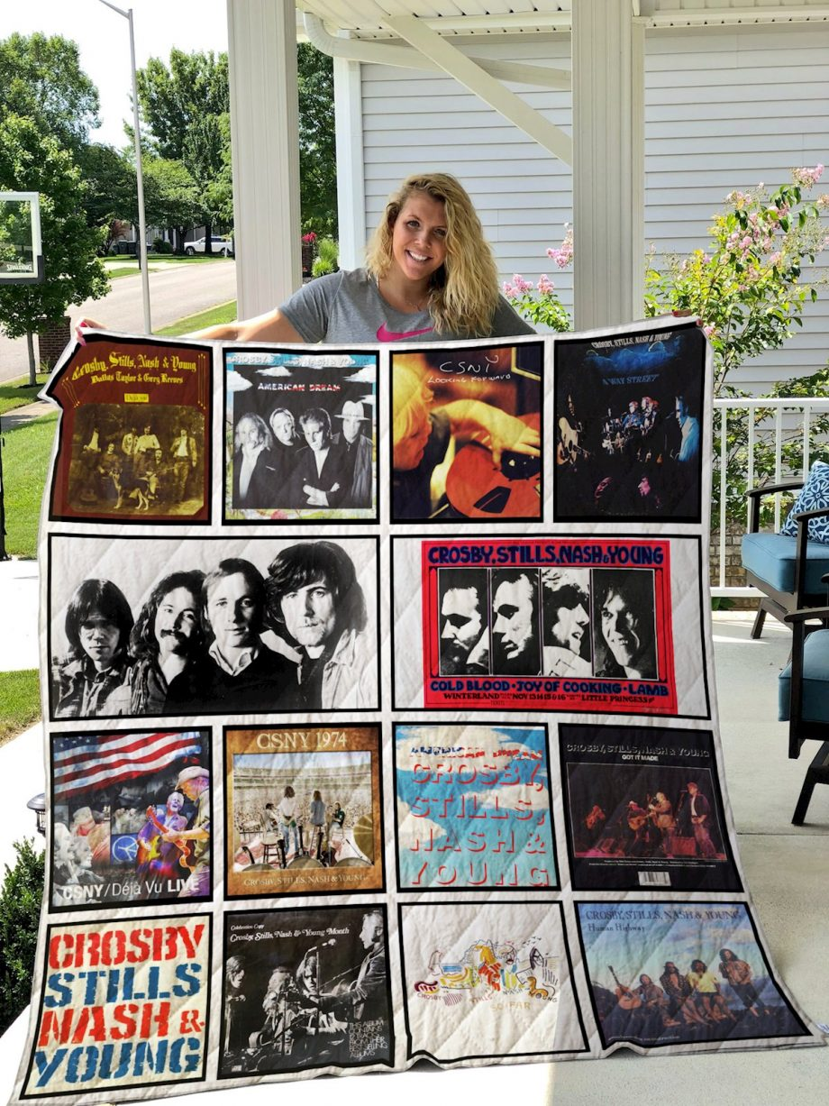 crosby stills nash and young Quilt Blanket