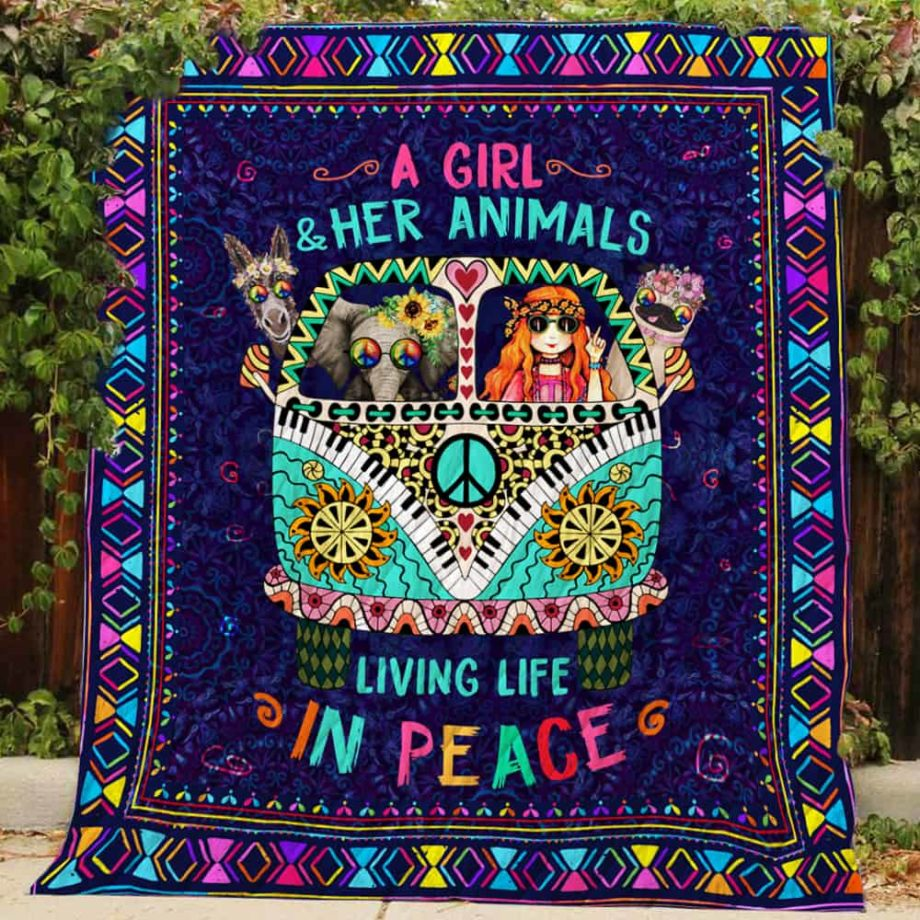 A Girl & Her AnimalsQuilt R203 KP-196