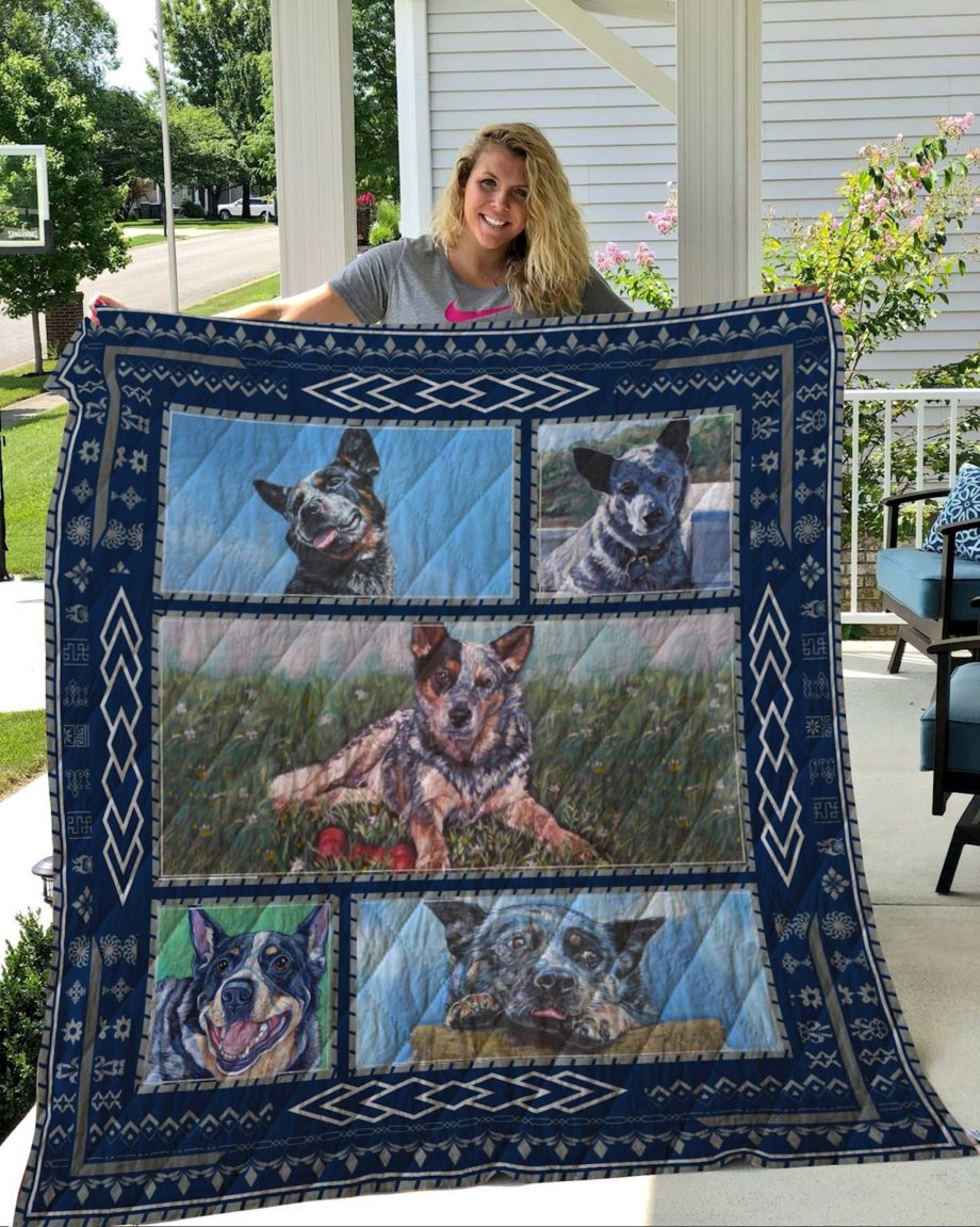 Australian Cattle Dog Quilt Blanket KWP