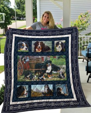 Bernese Mountain Dog Quilt Blanket KWP