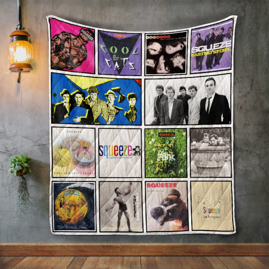 Squeeze Album Covers Quilt Blanket