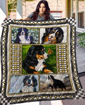 Bernese Mountain Dog Quilt Blanket LC1