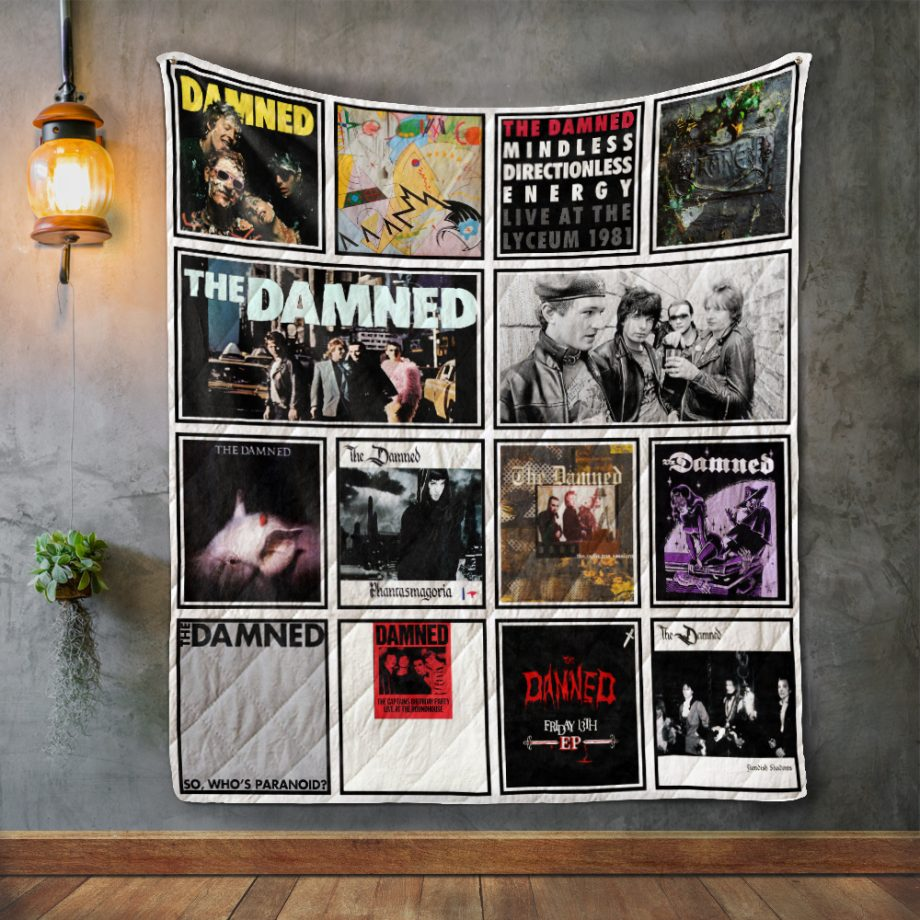 The Damned Album Covers Quilt Blanket