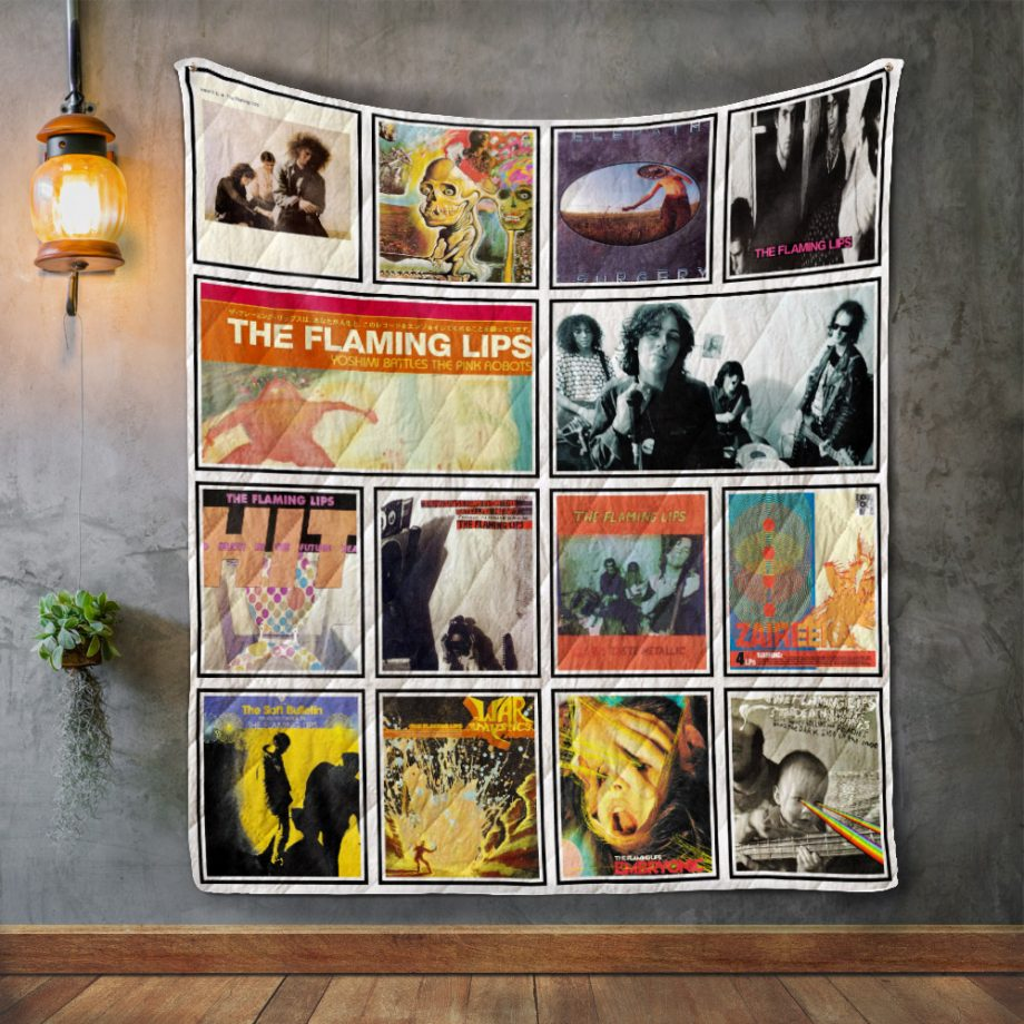 The Flaming Lips Album Covers Quilt Blanket