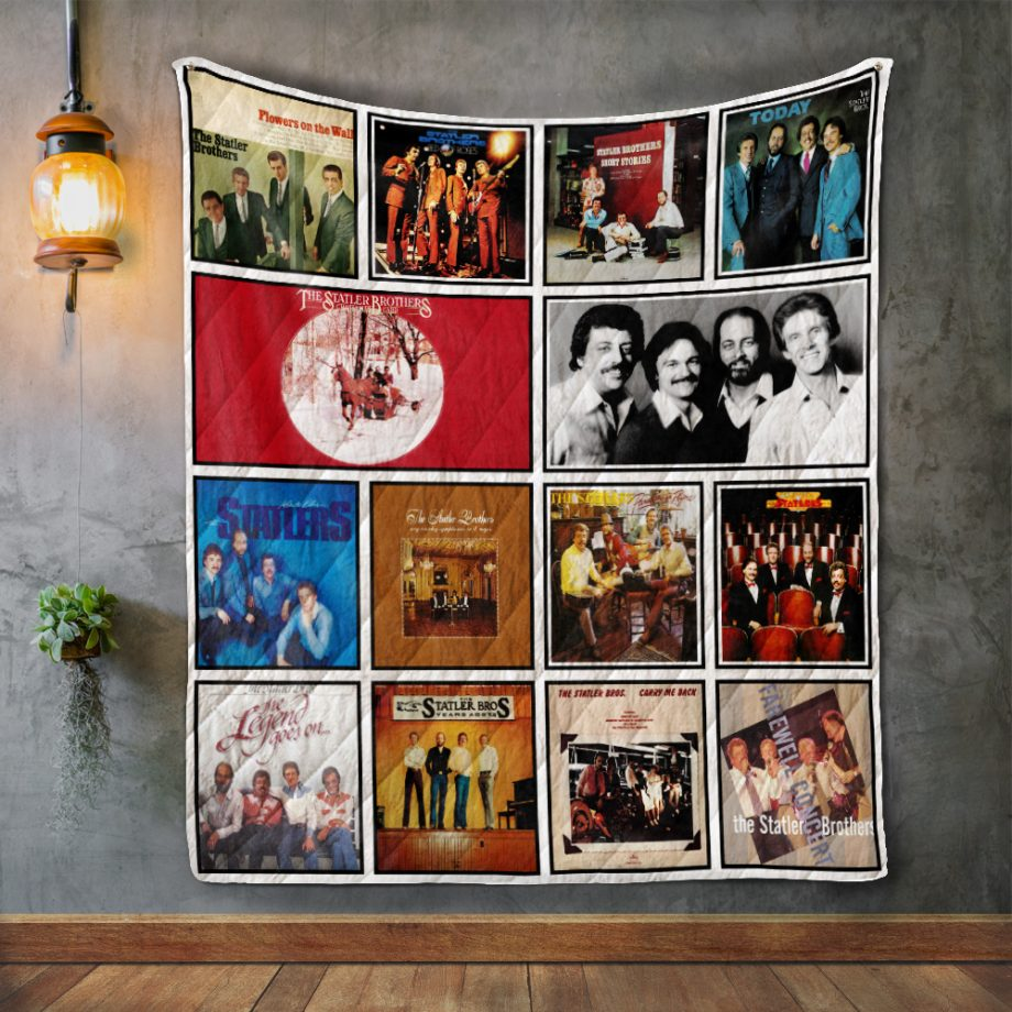The Statler Brothers Album Covers Quilt Blanket