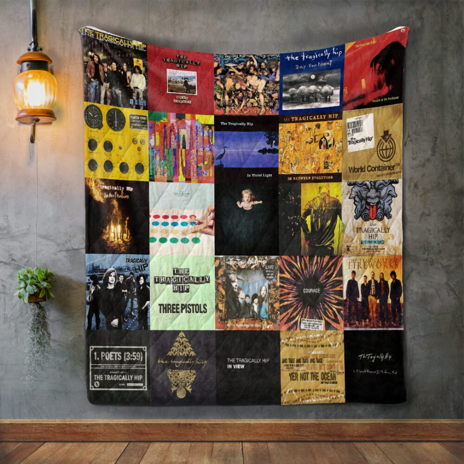 The Tragically Hip Album Covers Quilt Blanket