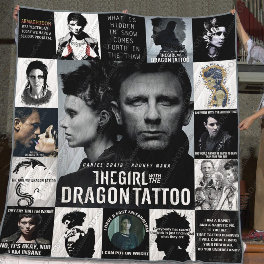 The Girl With The Dragon Tattoo Quilt Blanket