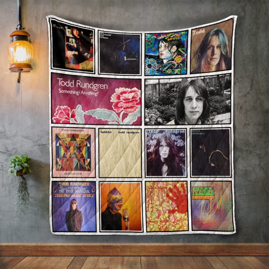 Todd Rundgren Album Covers Quilt Blanket
