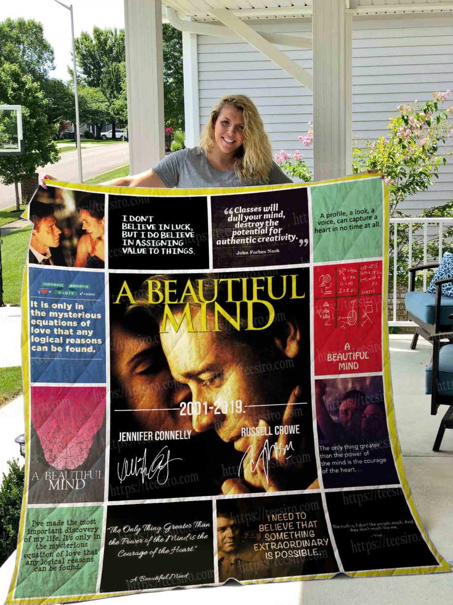 A Beautiful Mind 2001 Quilt Blanket 01