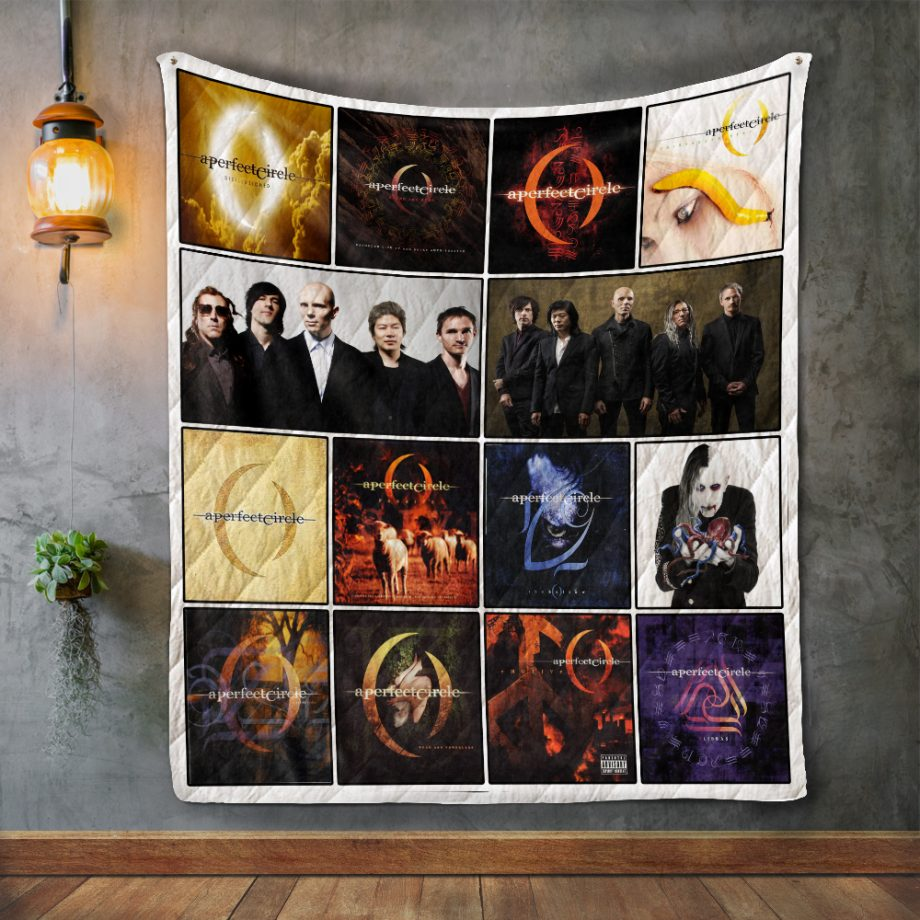 A Perfect Circle Album Covers Quilt Blanket