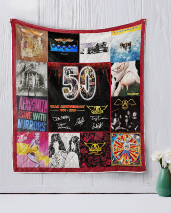 Aerosmith 50 Years Of 19702020 For FansQuilt Blanket