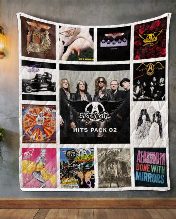 Aerosmith Album Covers Quilt Blanket