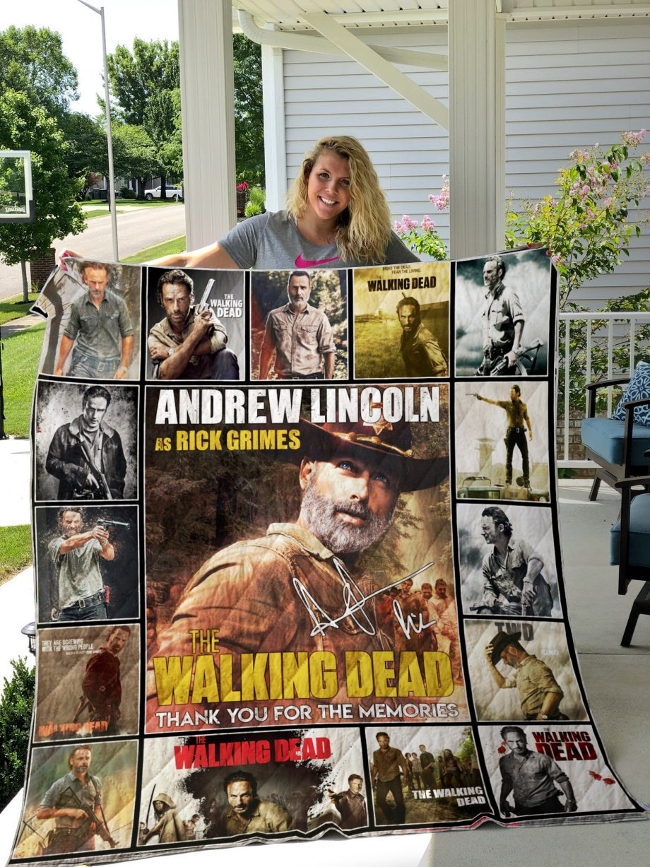 Andrew LincolnRick Grimes-The Walking Dead Quilt-0489