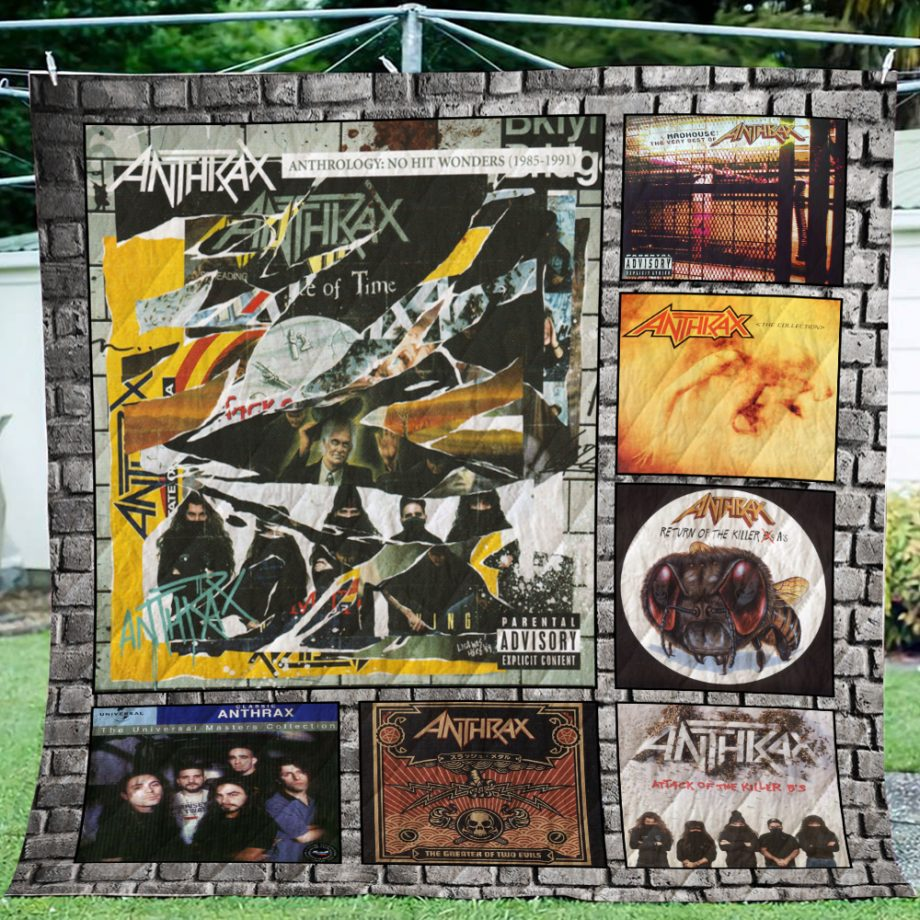 Anthrax Complication Albums Quilt Blanket