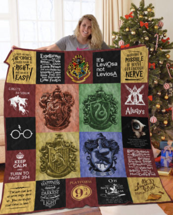 [B] Harry Potter Quilt Blanket For Fans Ver 20 ver2 KP-404
