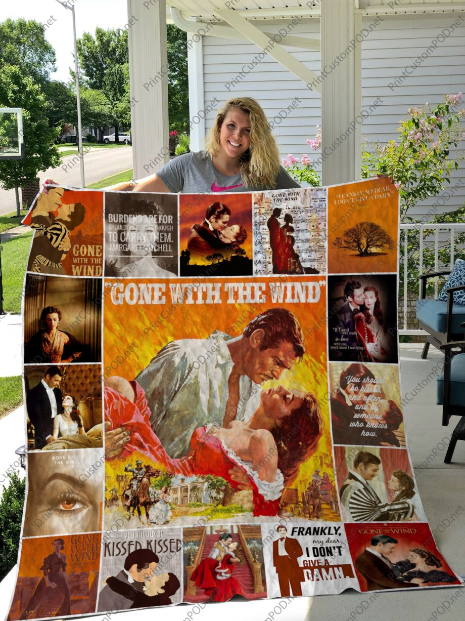 H Gone with the Wind Quilt Blanket